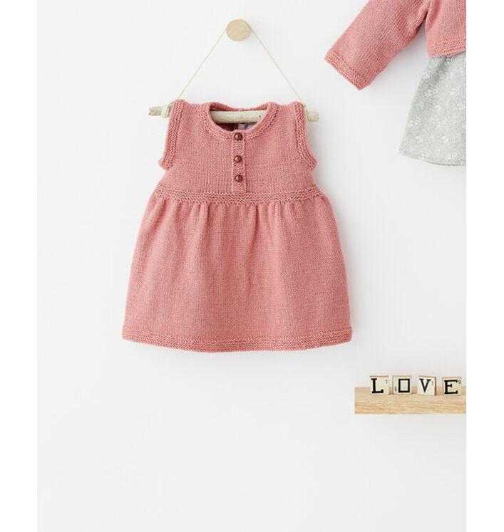Modèle robe rose layette Super Baby
