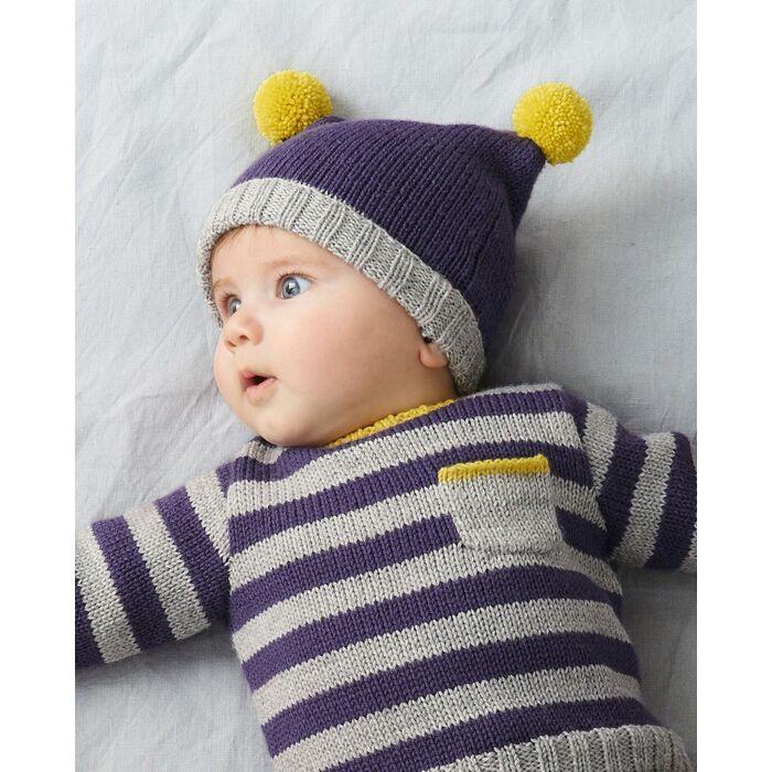 Modèle bonnet layette Lambswool