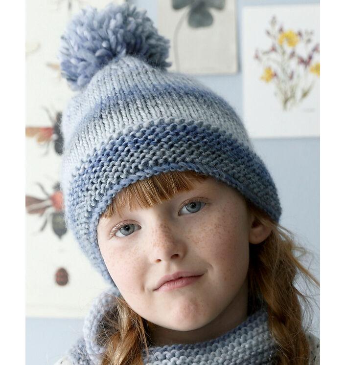 Modèle bonnet bleu enfant Phil Mikado