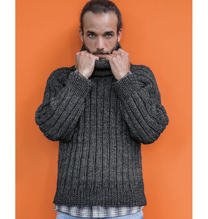 Modèle pull noir homme Frimas