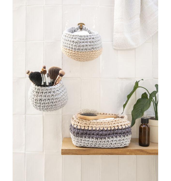 KIT DIY - Corbeille sdb au crochet