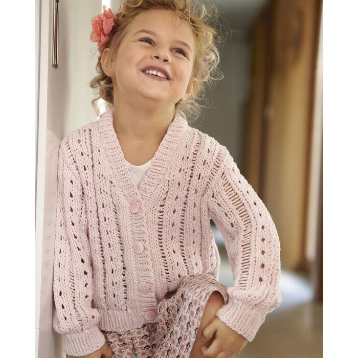 Modele Gilet Enfant Fille Phil Aviso Modeles Enfant Phildar