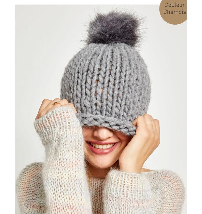 Kit diy - bonnet pompon