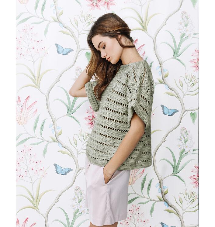 Fiche Modèle Pull Crochet Femme Phil Coton 4