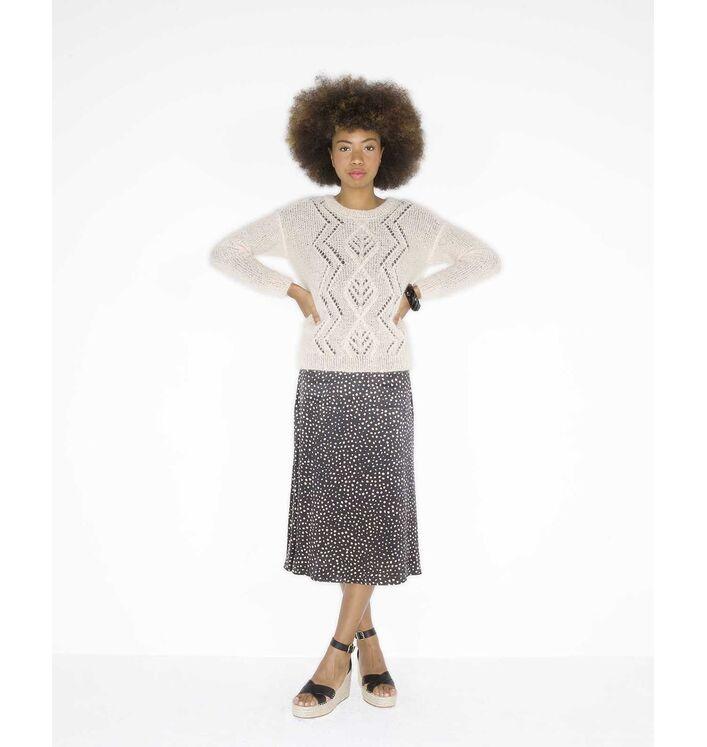 Modèle Pull Fantaisie Femme Mohair Soie