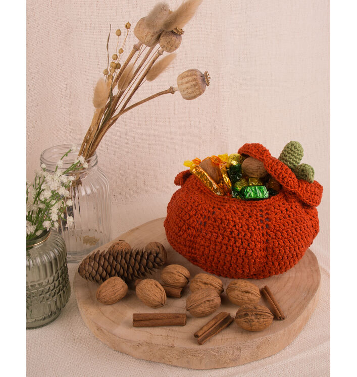 Modèle Citrouille Crochet Phil Coton 3