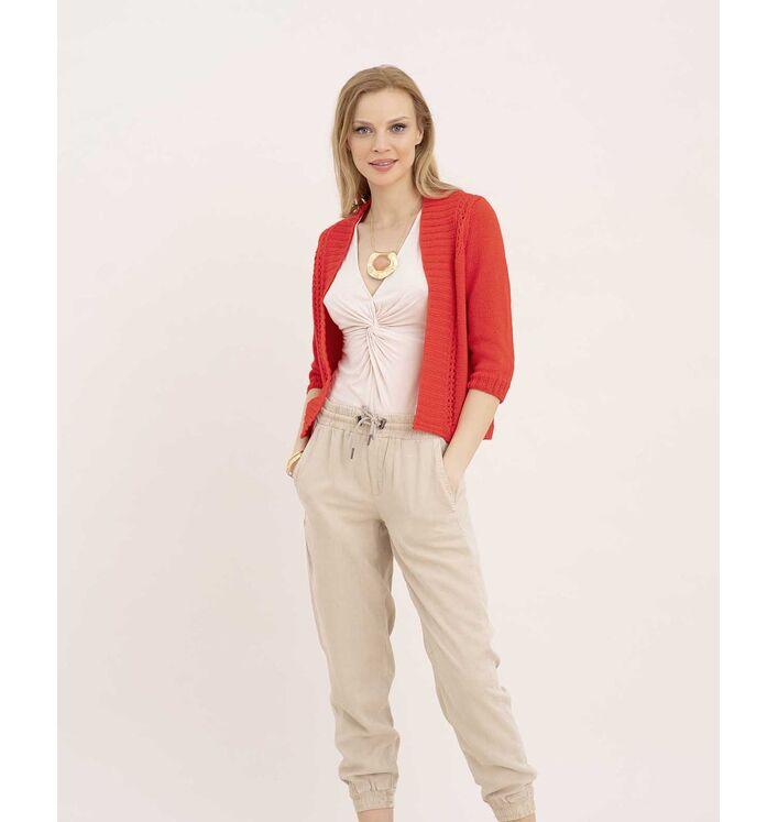 Modèle Gilet Jersey Femme LaineCachemire