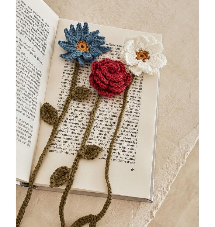 Modèle Marque-Pages Fleurs Phil Coton 3