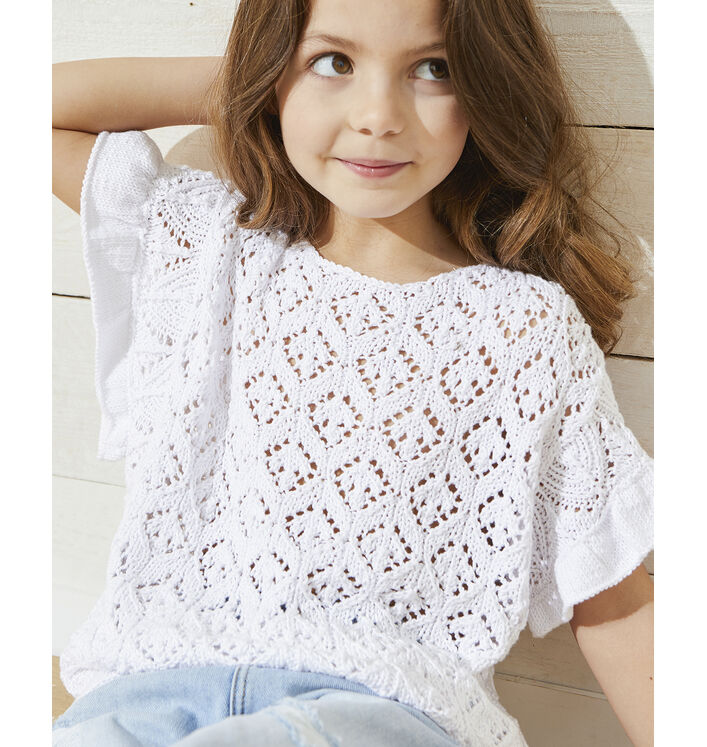 Modèle Pull Fille Trudy Phil Tropical