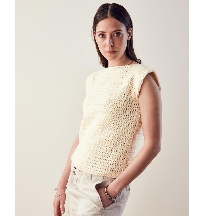 Modèle Pull Femme Crochet Phil Pima