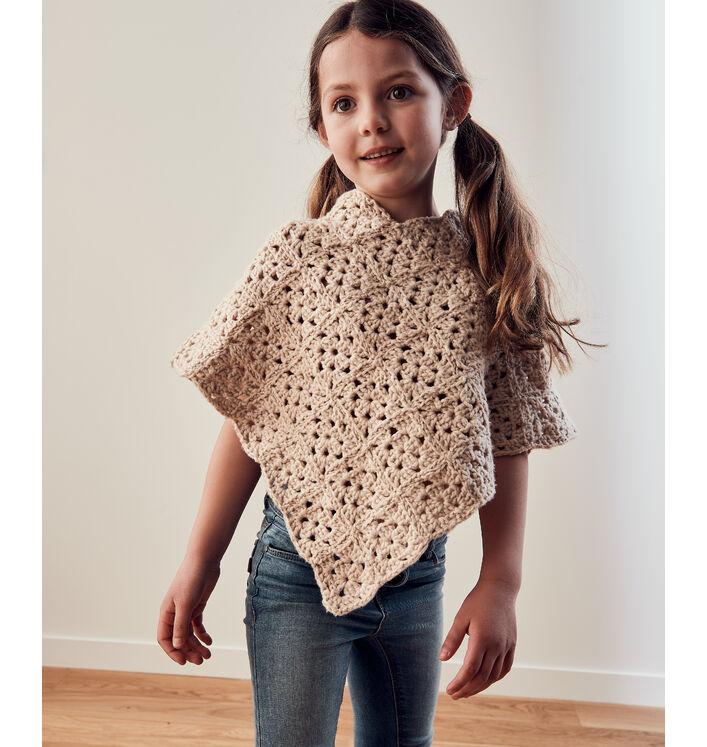 Modèle Enfant Poncho Crochet Phil Pima