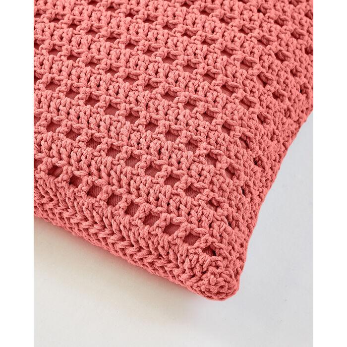 Modèle Coussin Ajouré Crochet P. Matelot