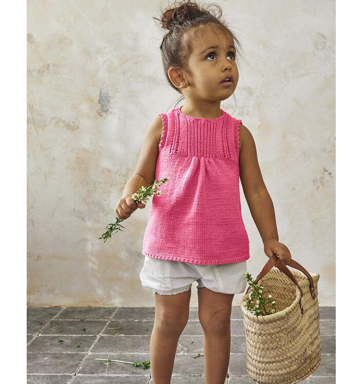 Modèle Tunique Fille Phil Ecocoton Rose