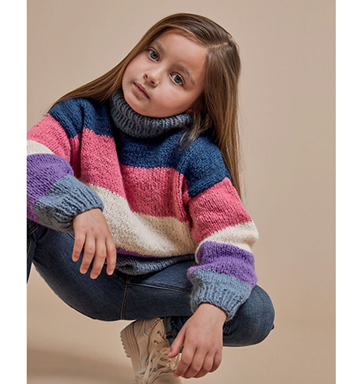 Modèle Pull Fille Vickie Phil Wavy