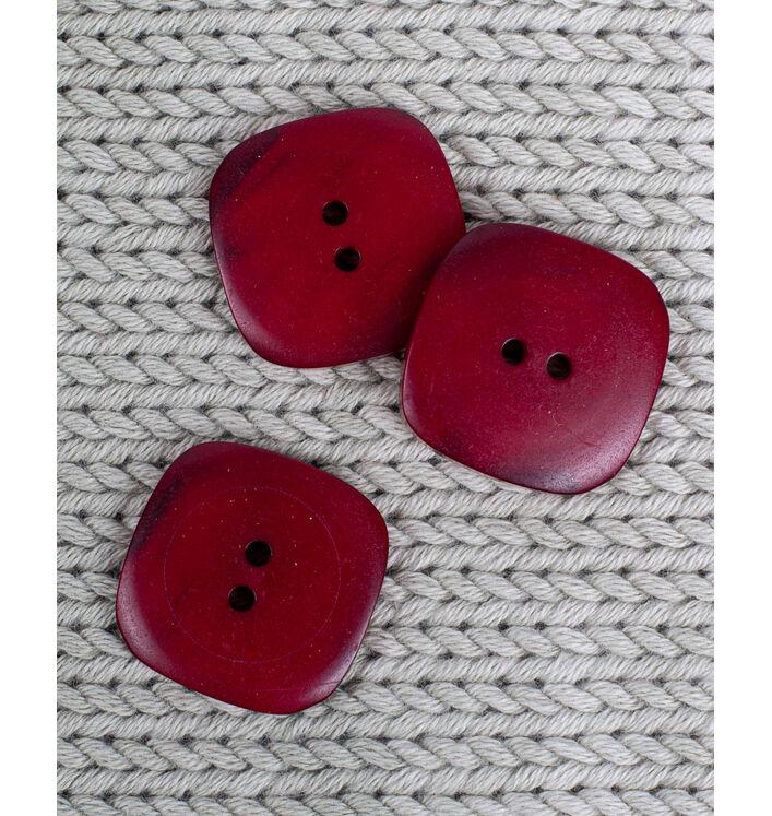Bouton carré coloris rubis