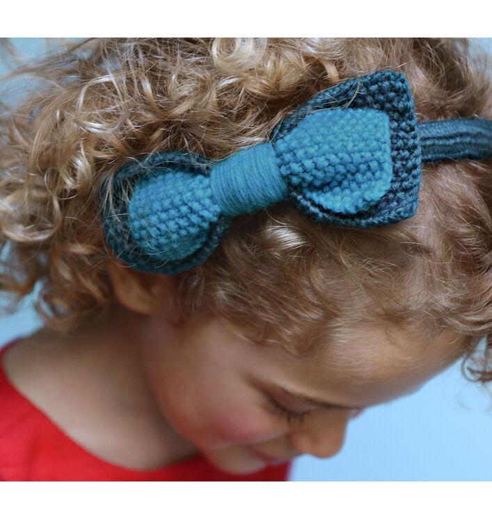 Modèle serre-tête tricotin fille
