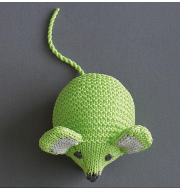 Souris tricotée à la main