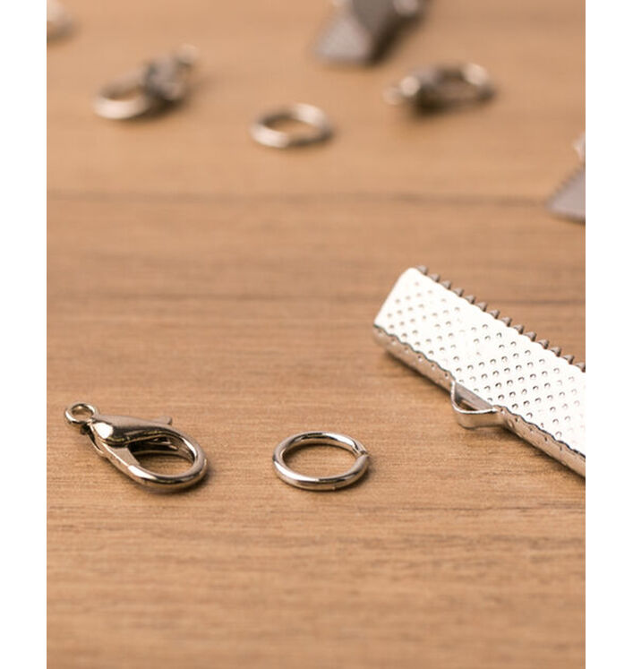 Kit fermoirs à bijoux - Coloris argenté