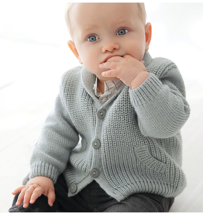 Modèle gilet gris Super Baby